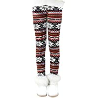 BOOPH Girls Winter Thick Warm Pant Printing Fleece Lined Leggings Tights 2-10Y