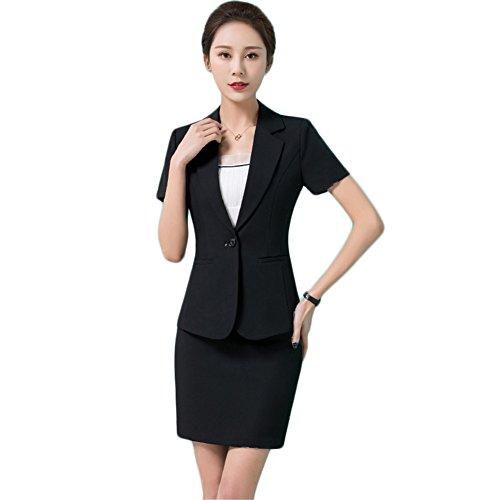 [해외]ulricar 여성 정장 스커트 정장 두 종 세트 자켓 + 스커트 반팔 사무실 정장 큰 사이즈 着?せ 비즈니스 정장 통근 멋쟁이/ulricar Women`s suits Skirt suit 2-piece set Jacket + skirt Short-sleeved office suit large size thin clothing busine...