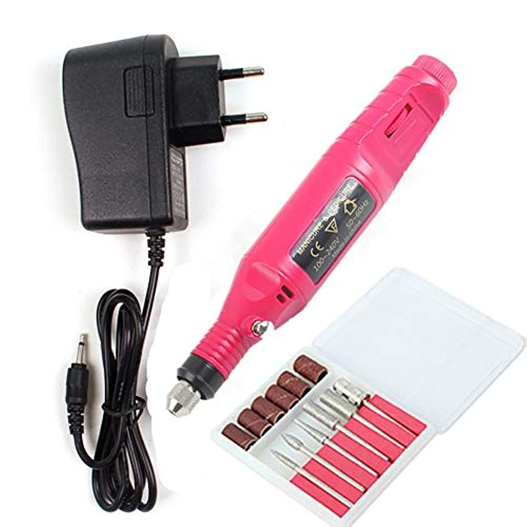 ピンク苛性滴下専門の再充電可能な釘のドリル、アクリルのゲルの釘のための携帯用電気釘ファイルのマニキュアペディキュア機械,Red