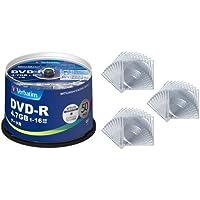 三菱ケミカルメディア Verbatim 1回記録用 DVD-R DHR47JP50V4 (片面1層/1-16倍速/50枚)+クリアケース付き