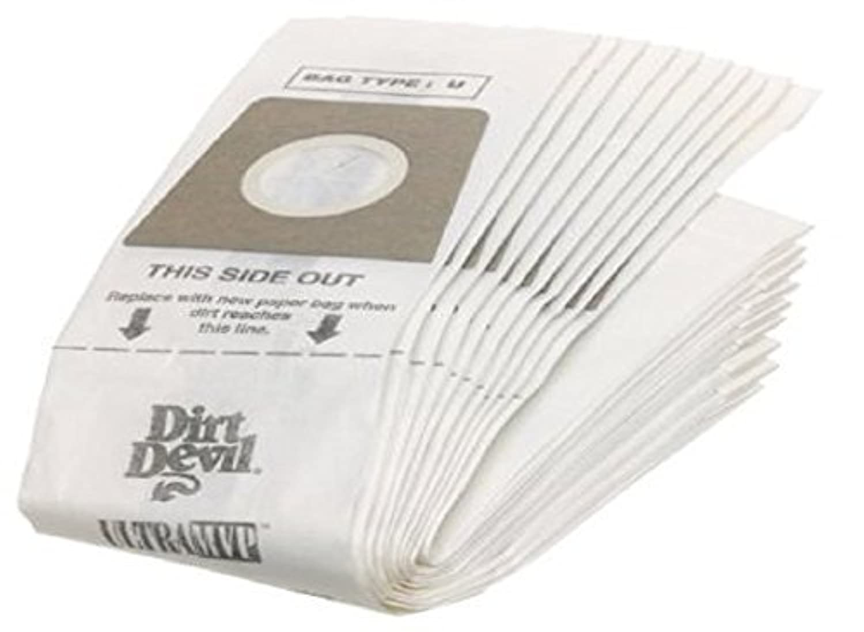 Dirt Devil UprightタイプU用紙バッグ10pk Manufactureパーツ# 3920048001