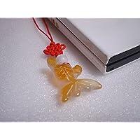 天然石 オリジナルストラップ メノウの金魚