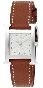 [エルメス]HERMES 腕時計 Hウォッチ シルバー文字盤  カーフ革ベルト HH1.210.260.UGO レディース 【並行輸入品】