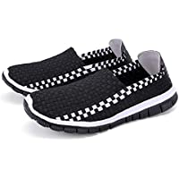 AUCDK Unisex Slip On Loafers Braided Breathable Casual Flats Lightweight Couples Trainers Sport Water Shoes