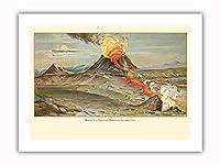 マウナロア火山 - ビッグアイランド、ハワイ - ビンテージなハワイの旅行のポスター によって作成された ジェームズ・シュタイナー c.1910s - プレミアム290gsmジークレーアートプリント - 30.5cm x 41cm