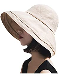 T WILKER UVカット 帽子 レディース 紫外線対策 ワイヤーを加える 熱中症予防 取り外すあご紐 サイズ調節可 つば広 おしゃれ 可愛い ハット 旅行用 日よけ 夏季 女優帽 小顔効果抜群