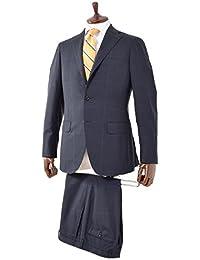 RINGJACKET(リングヂャケット) 3B DELFINO シャドウグレンチェック ウールスーツ ネイビー