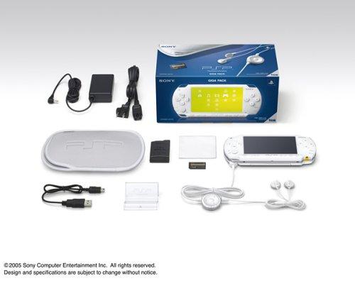 PSP「プレイステーション・ポータブル」ギガパック セラミック・ホワイト(PSP-1000G1CW)【メーカー生産終了】