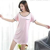 GAODUZI セクシーなスカートパジャマ女性夏の半袖の寝間着女性のモードコットンファッション大きな新鮮な学生ホームサービス