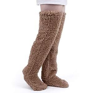極暖 足が出せるロングカバー HIMETSUYA ルームシューズ ルームソックス あったかグッズ ロングカバー 冷え性 靴下 ソックス 足の大きさ23~26.5cmまで