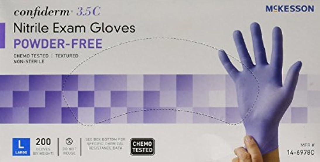 退屈させるエゴイズム変色するMcKesson Confiderm 3.5C Nitrile Latex-Free LG Exam Gloves, Large, Chemo Tested, Powder-Free, 200/BX by Sold Individually