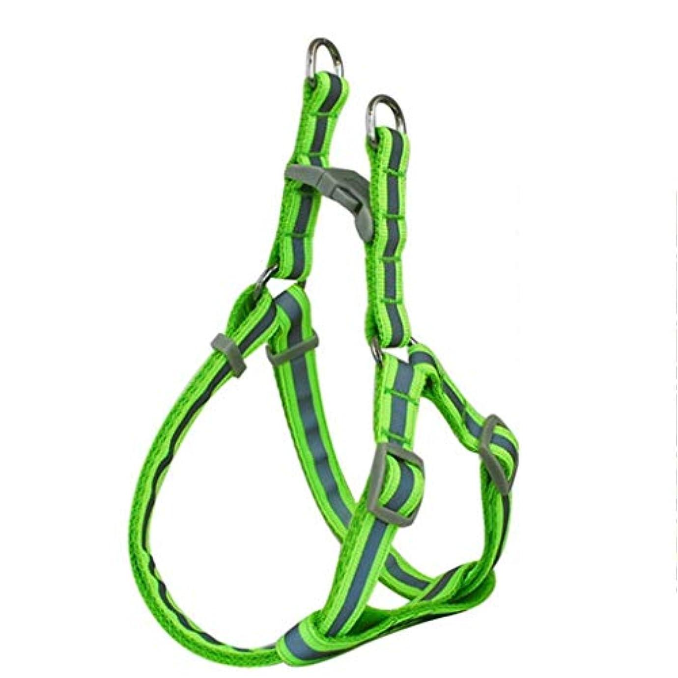 勝者切断するエロチックペット用牽引用品ハイエナチェーンハンド1.0 / 1.5cmプルチェストストラップセット中小犬犬用ロープ (色 : 緑, サイズ さいず : S s)