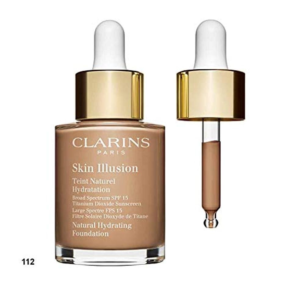 三構造ウォーターフロントクラランス Skin Illusion Natural Hydrating Foundation SPF 15# 112 Amber 30ml/1oz並行輸入品