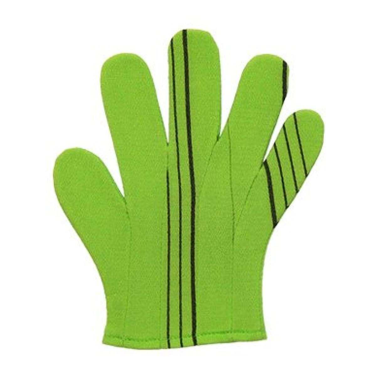 使用法棚ブラジャーノーブランド品 韓国あかすりタオルC(1個)カラー:グリーン