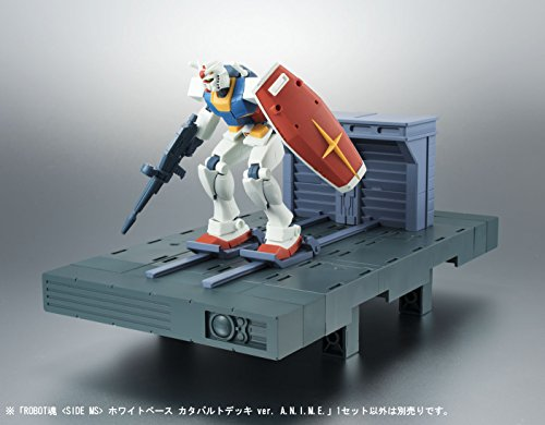 ROBOT魂 機動戦士ガンダム [SIDE MS] ホワイトベース カタパルトデッキ ver. A.N.I.M.E.. 全高約50mm/全幅約260mm ABS製 塗装済み可動フィギュア