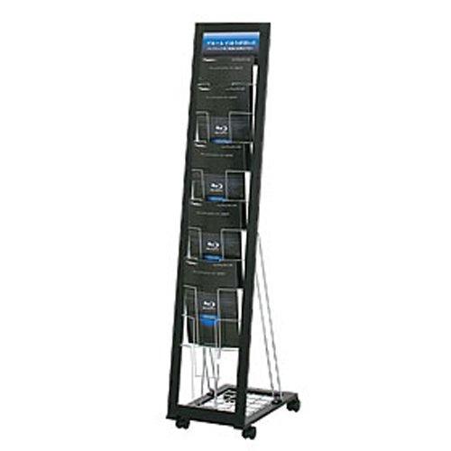 [해외]주식회사 패스트 L 형 카탈로그 스탠드 PLS-011 (A4 판 1 열 10 단) 블랙/First L type catalog stand PLS - 011 (A4 size 1 row 10 steps) Black