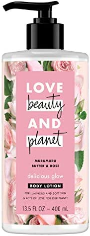 Love Beauty And Planet Murumuru Butter and Rose Delicious Glow Body Lotion, 400ml