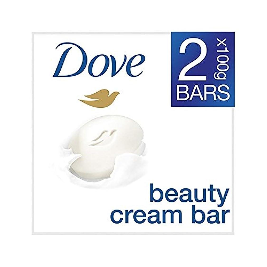 コスチューム会員削る[Dove ] 鳩の美容クリームバーオリジナルの2×100グラム - Dove Beauty Cream Bar Original 2 x 100g [並行輸入品]