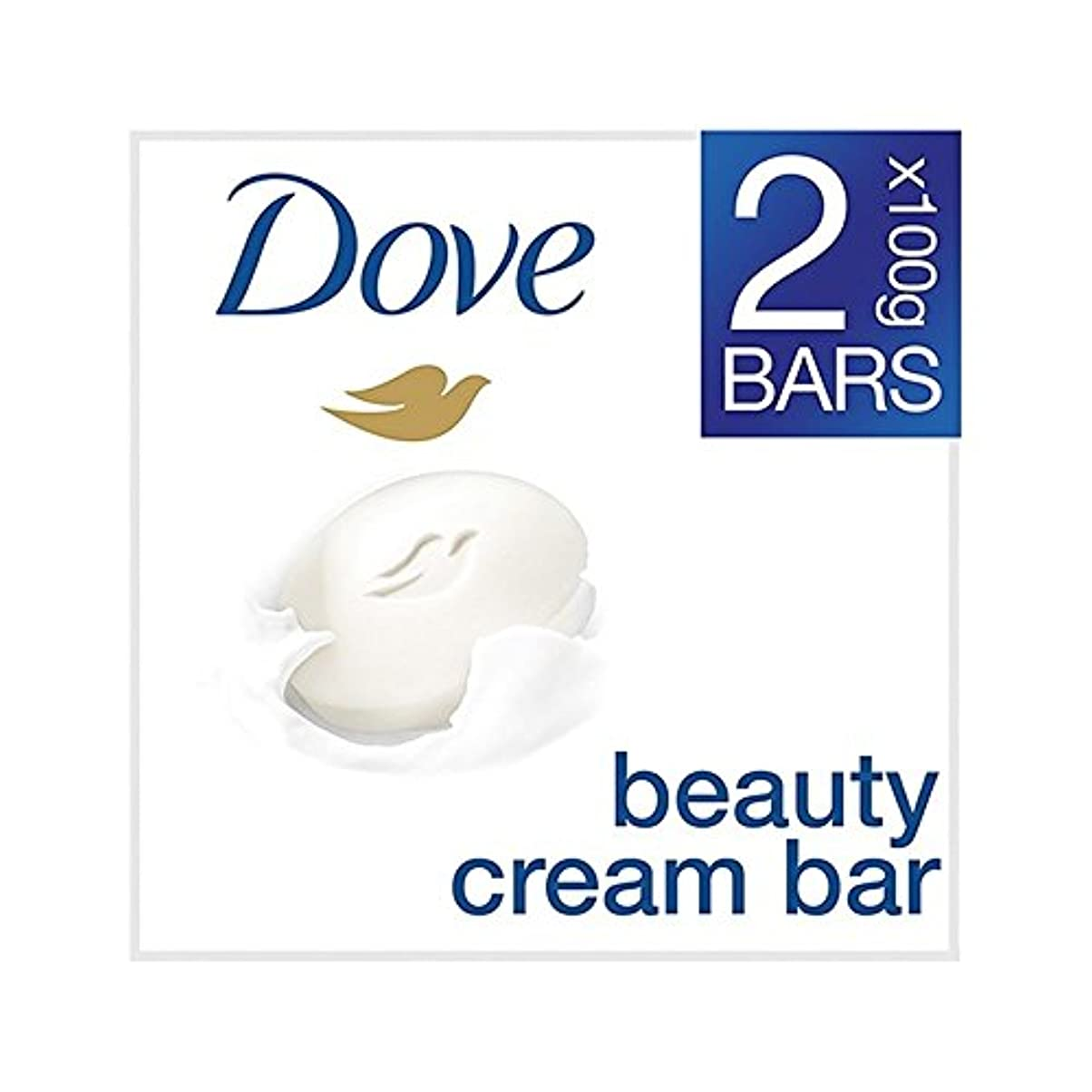 事業内容側面咳[Dove ] 鳩の美容クリームバーオリジナルの2×100グラム - Dove Beauty Cream Bar Original 2 x 100g [並行輸入品]
