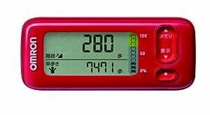 オムロン(OMRON) 活動量計 カロリスキャン WellnessLink レッド HJA-401F-R
