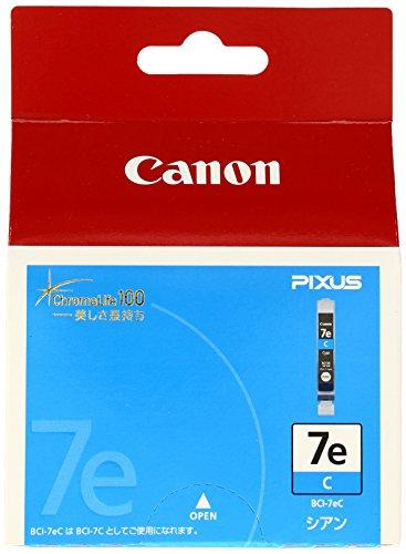 Canon 純正インクカートリッジ BCI-7e シアン BCI-7EC