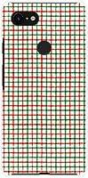 液晶保護フィルム 付 グーグル ピクセル スリー エックスエル Google Pixel 3 XL docomo SoftBank TPU ソフトケース 手書き風チェックグリーンオレンジ スマホケース スマホカバー デザインケース