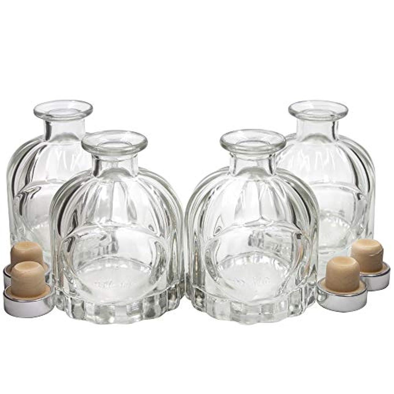 カメフロー裕福なFrandy House リードディフューザー用 ガラスボトル 瓶 100ML カポチャ