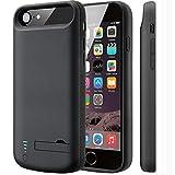 Best iPhone 4のバッテリーケース - バッテリーケース 、iPhone 6/6s/7/8スマートフォン バッテリーケース Cofuture 5 500mA大容量 2回分に充電可能 スタンド機能付き 衝撃分散システムでiPhoneを保護 Review