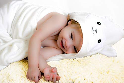 Luxurious 100% Organic Bamboo Baby Hooded Towel