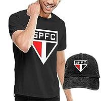 サンパウロFC 半袖Tシャツ+カウボーイハット メンズ tシャツ カジュアル ファッション キャップ 日除け 野球帽 調節可能