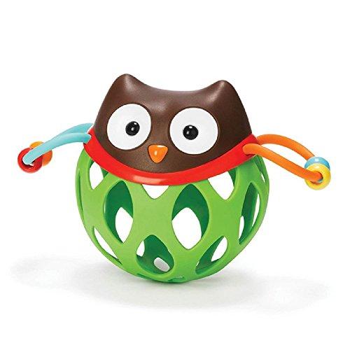 がらがらおもちゃ ロールアラウンドラトル スキップホップ ラトル  画固め ベビーおもちゃ にぎりおもちゃ にぎにぎ ベビー用品 出産祝いやギフトにも最適です (ふくろう)
