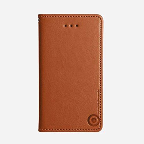 Galaxy S4 / ギャラクシー S4 (SC-04E) 対応 ケース Suction Plate Hidden Pocket Flip サクション プレート カード挿し フリップ ケース スマホ カバー Brown / ブラウン