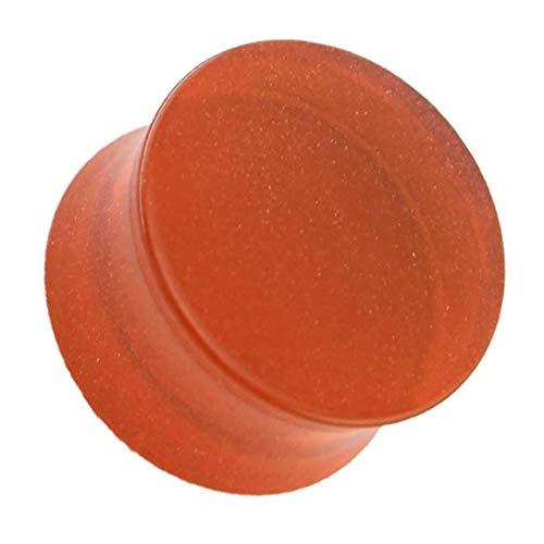 プラスチック ダブルフレア ボディピアス/クリアオレンジ (サイズ)2G 透明 プラグ フレア 埋め込み ホールピアス プラスチック 人気 プレゼント 耳