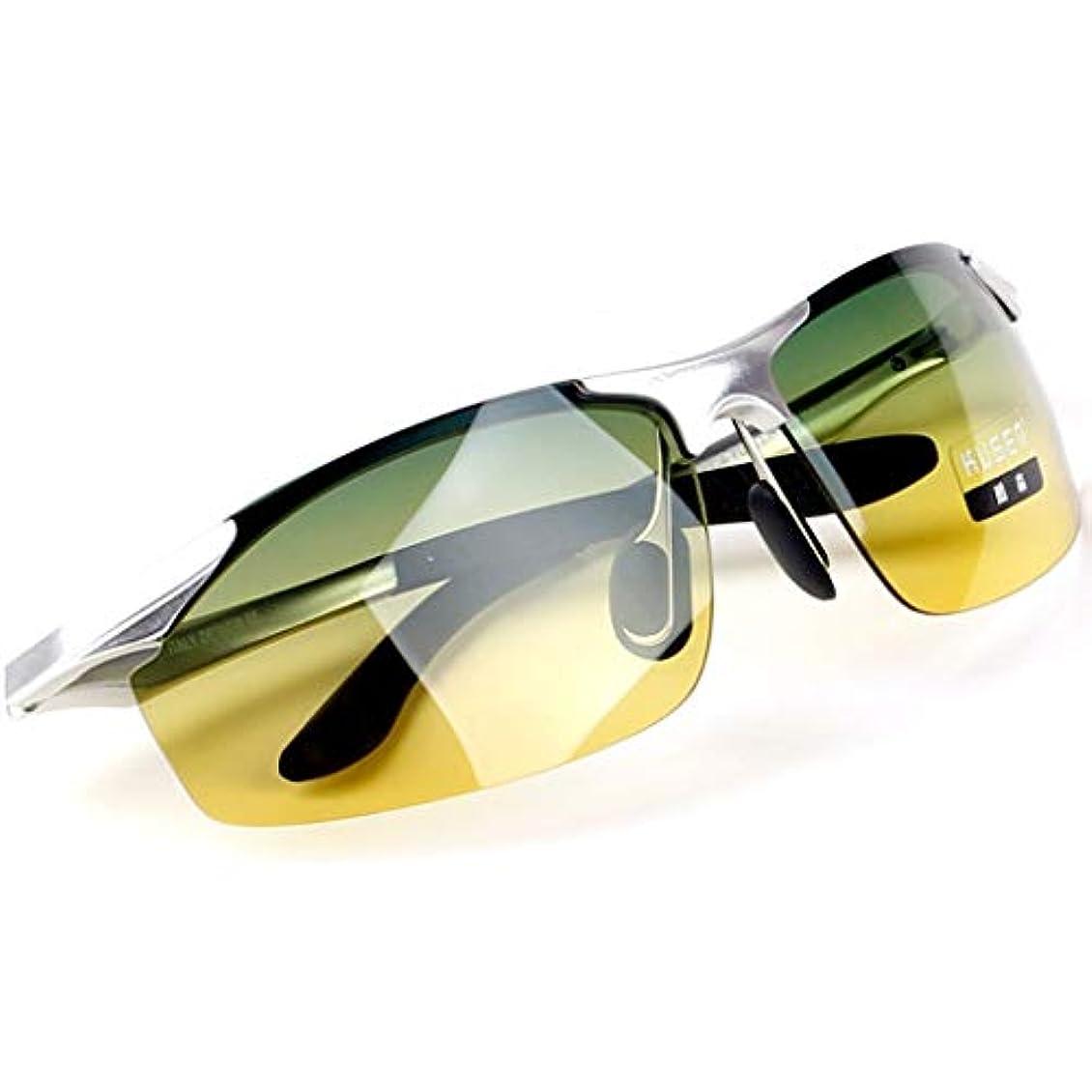 関数両方画家DFLZJJ サングラス- 偏光レンズドライバーメガネデイナイトサングラスドライビングナイトビジョンゴーグルアンチハイビーム (色 : B, サイズ さいず : 14.8cm)