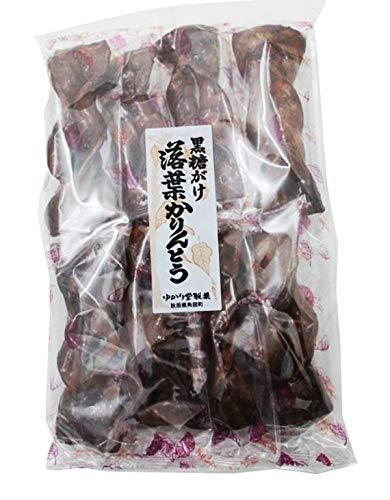 ゆかり堂製菓 黒糖がけ落葉かりんとう 8本 ×10袋