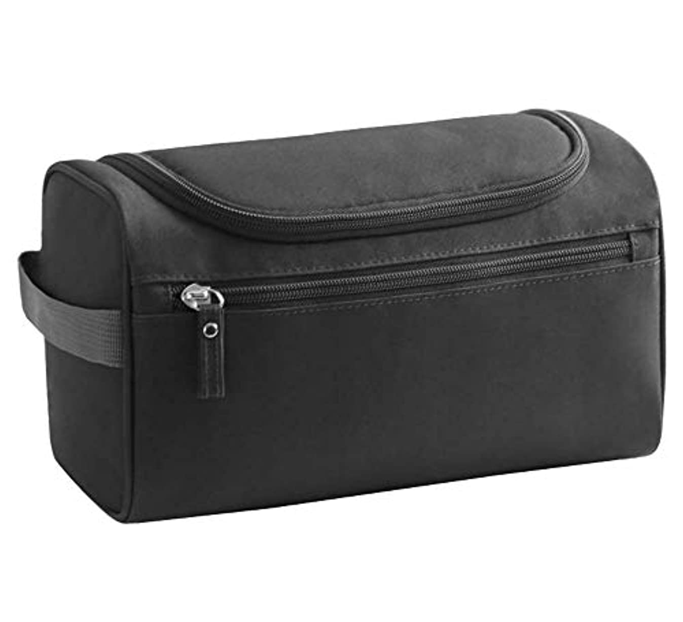 重要性調和しっとり1個男性と女性のためのトイレタリーバッグをぶら下げ大容量トラベルコスメティックバッグ、黒
