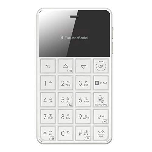 FutureModel NichePhone-S 4G ホワイトカードサイズの4G対応SIMフリー携帯電話 MOB-N18-01-WH