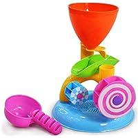 MolySun おもちゃ 子供用 1PCかわいい風車Waterwheel夏の遊び砂の水のおもちゃのスイミングプールの水浴ビーチのパーティーの子供遊びバスおもちゃ カラフル