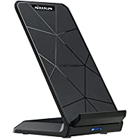 NILLKIN Qi 急速 ワイヤレス充電器(Wirelss Charger Stand)10W 二つのコイル ワイヤレスチャージャー 置くだけ充電 横置き/縦置き for iPhone X /iPhone 8/iPhone 8 Plus/Android/Galaxy Note8/S8 /S8 Plus/S7/S7 Edge/Note 5/S6 Edge Plus/他Qi対応機種 USB付属 qi 充電器