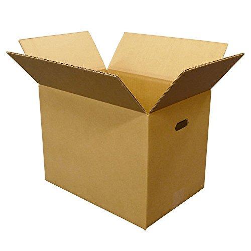 ボックスバンク ダンボール(段ボール箱)100サイズ(取っ手穴付)20枚セット 文書保存・引越し用 FD06-0020-b