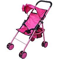 [プレシャストイズ]Precious toys Hot Pink Doll Stroller with Black Handles & Hot Pink Frame 0126A [並行輸入品]