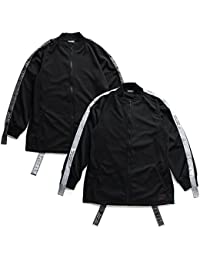【Z18PA03】 ゼファレン Zephyren アウター トラックジャケット ジャージ 長袖 かっこいい ロング丈 袖ライン アメカジ 正規品 黒 白