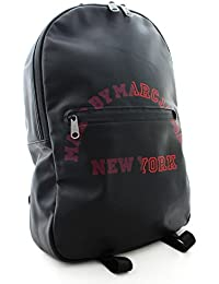 MARC BY MARC JACOBS(マークバイマークジェイコブス) ロゴ バックパック リュックサック ブラック レッド (中古)