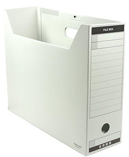 コクヨ ファイルボックス 色厚板紙 フタ付 B4 グレー B4-LFBN-M