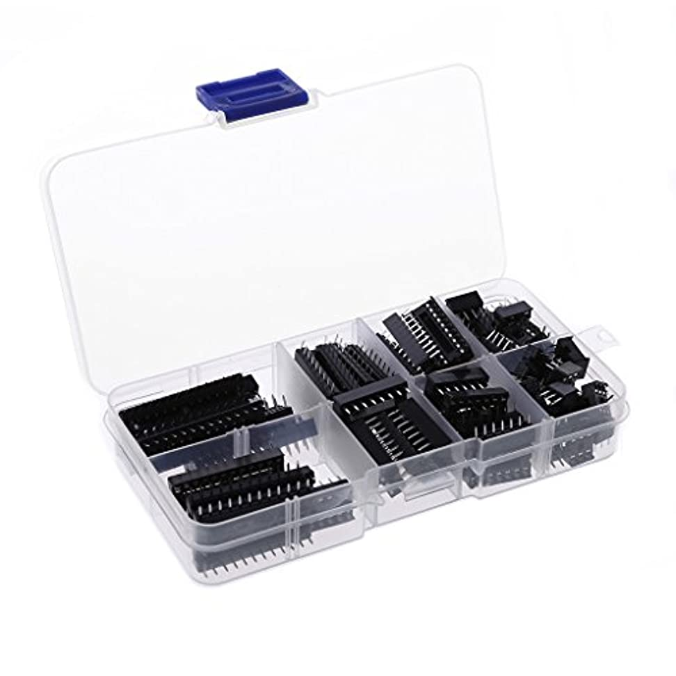 ふくろう担当者風Dabixx 66個/セットDIP ICソケットアダプタはんだタイプソケットキット6 8 14 16 18 20 24 28件のピン