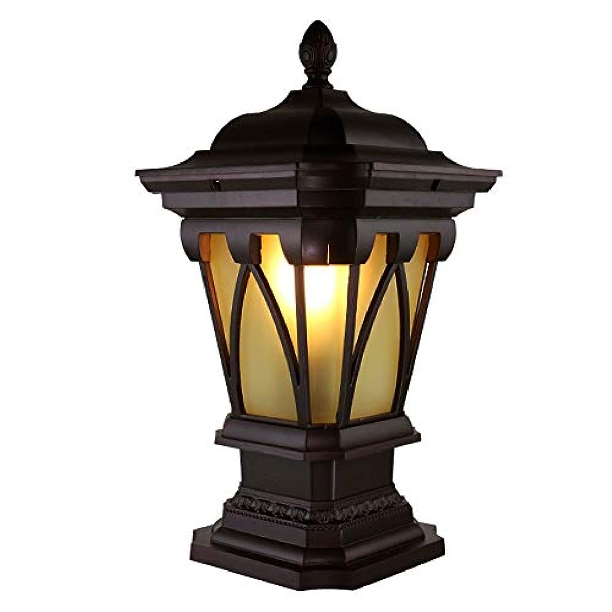 参照原理争うPinjeer E27ヨーロッパヴィンテージスターアニス黄色ガラスポストライト屋外ip54防水アルミコラムランプガーデン風景ヴィラホームドア中庭装飾柱ライト (サイズ : Height 81cm)