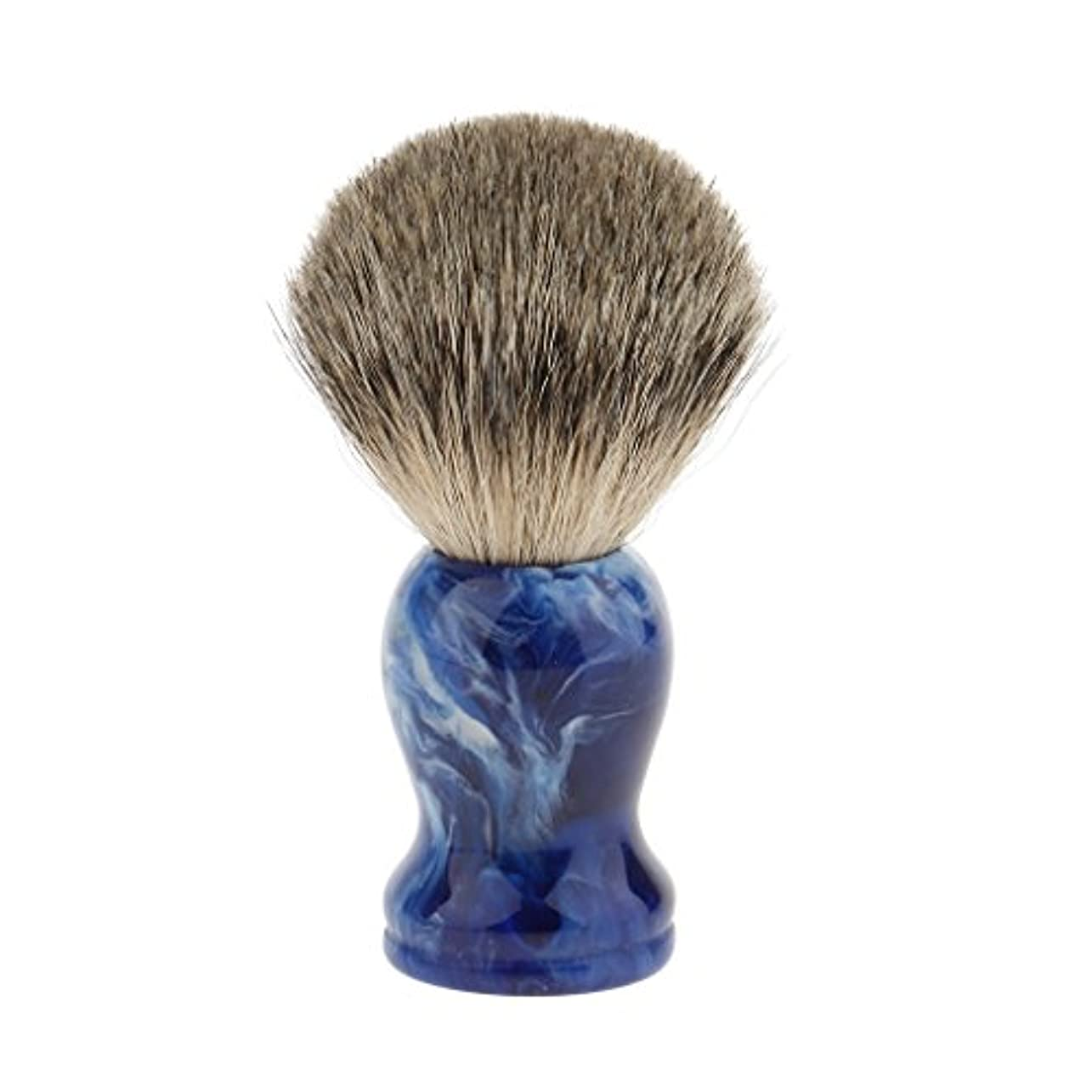 パウダー雪だるまを作る取り組むHellery シェービングブラシ 理髪師 ひげ クリーニングツール プロ サロン 家庭 個人用