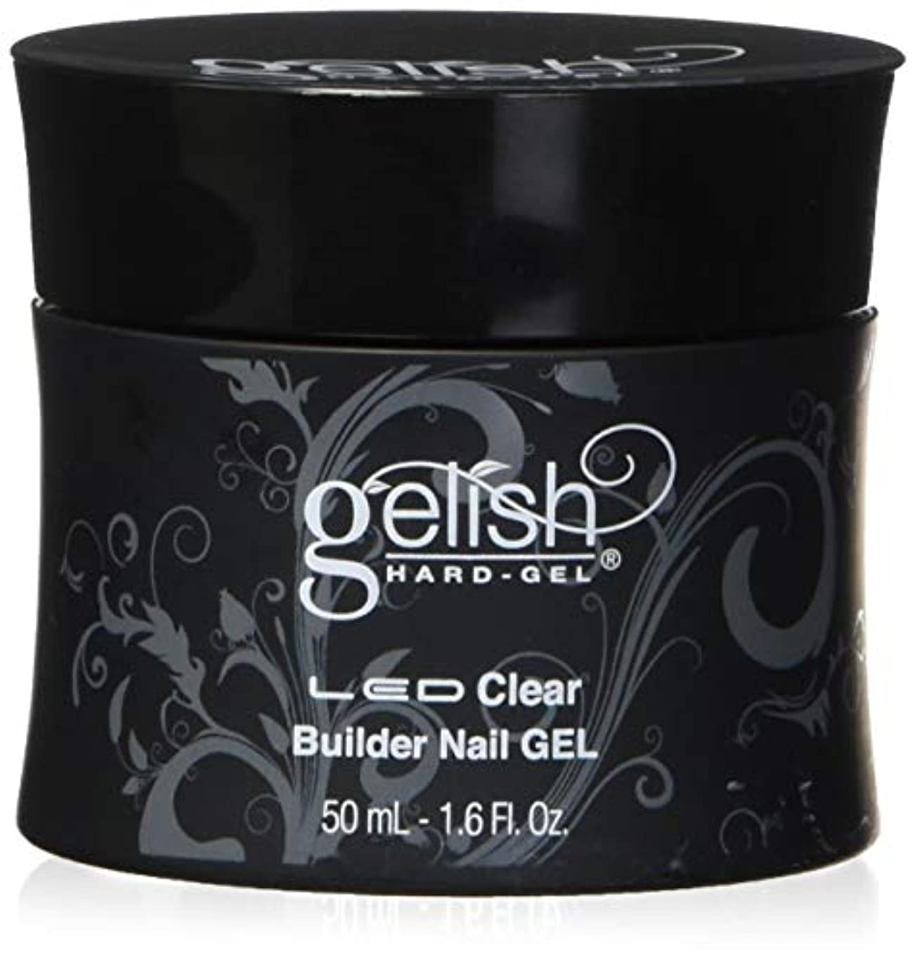 政権護衛小切手Harmony Gelish LED Hard Gel - Clear Builder - 1.6oz / 50ml