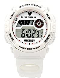 ディズニー 腕時計 デジタル 50M 防水 アラーム ストップウオッチ ミッキー うで時計 ホワイトミッキーマウス DISNEY 170081ST [並行輸入品]