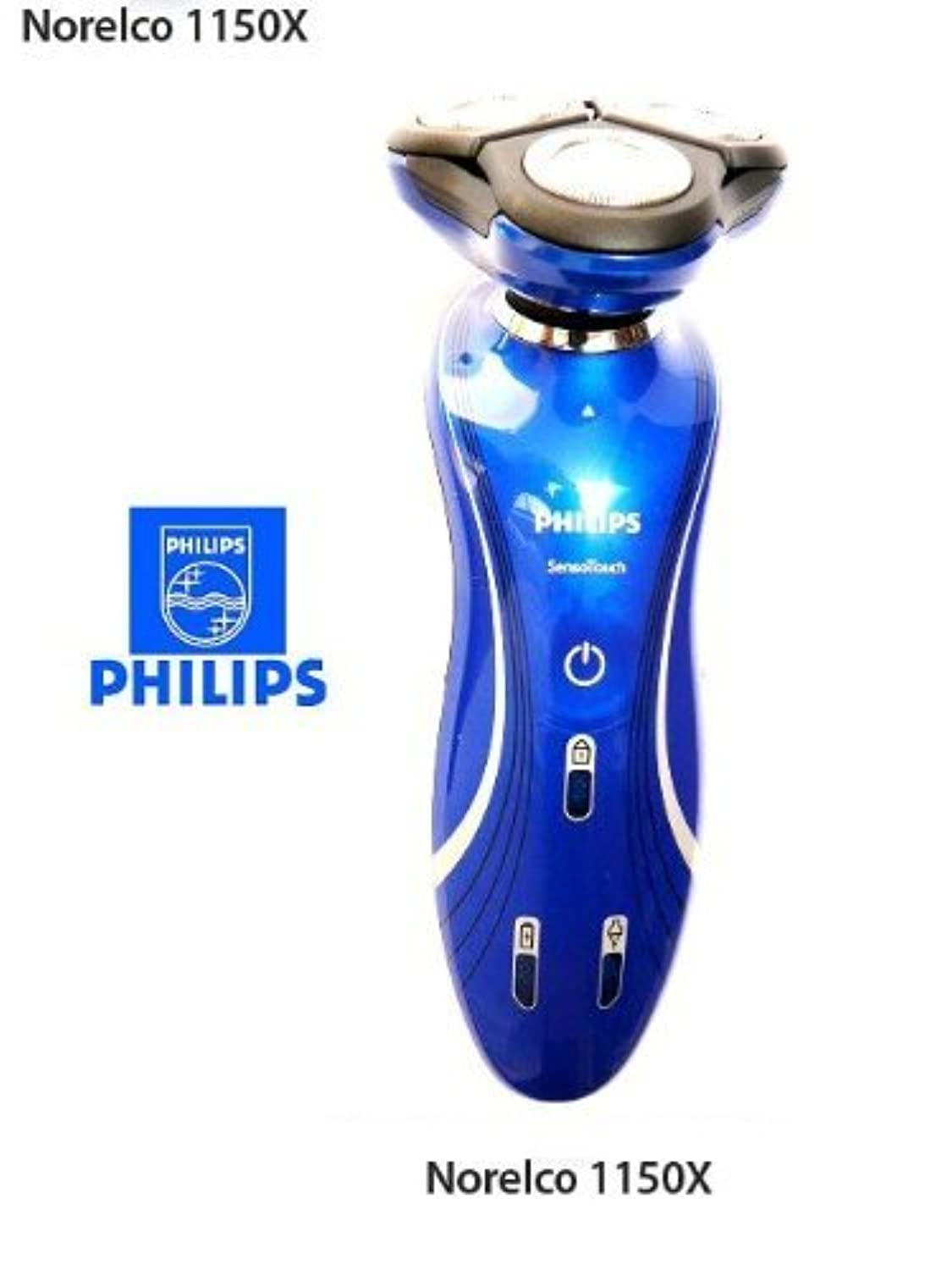 Philips Norelco 1150X / RQ1150 / 6100 SensoTouch 2d Electric Cordless Rechargable Mens Rotary Shaver Metallic...